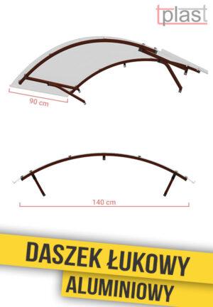 Daszek nad drzwi łukowy 140x90cm DLA140X90K TECH
