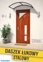 Daszek nad drzwi łukowy stalowy 180x50cm DLS180X50KB