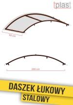 Daszek nad drzwi łukowy stalowy 200x90cm DLS200X90K TECH