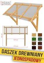 Daszek nad drzwi drewniany 175x146x129cm DDJS175X146X129K TECH