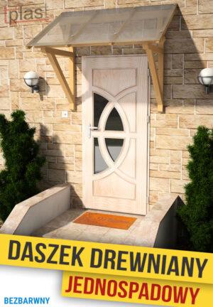 Daszek nad drzwi drewniany 175x146x129cm DDJS175X146X129KB