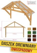 Daszek nad drzwi drewniany 202x146x170cm DDDS202X146X170K TECH
