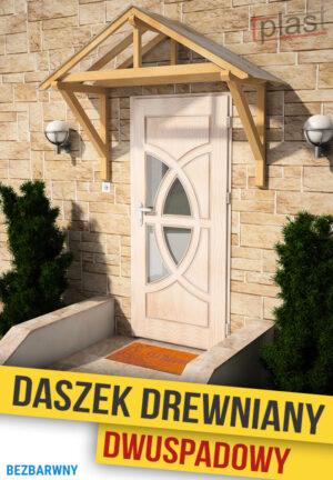 Daszek nad drzwi drewniany 202x146x170cm DDDS202X146X170KB