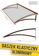 daszek nad drzwi klasyczny 100x60cm DKA100X60K TECH