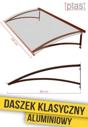 daszek nad drzwi klasyczny 100x80cm DKA100X80K TECH