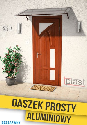 Daszek nad drzwi prosty 120x80cm DPA120X80KB