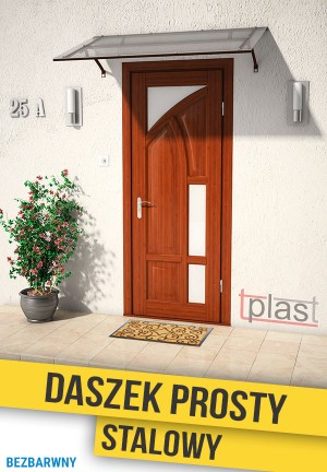 Daszek nad drzwi prosty stalowy 180x90cm DPS180X90KB