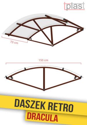 Daszek nad drzwi retro dracula 150x70cm DRDS150X70K TECH