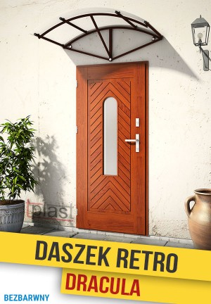 Daszek nad drzwi retro dracula 150x70cm DRDS150X70KB