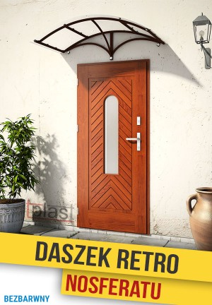 Daszek nad drzwi retro nosferatu 150x90cm DRNS150X90KB