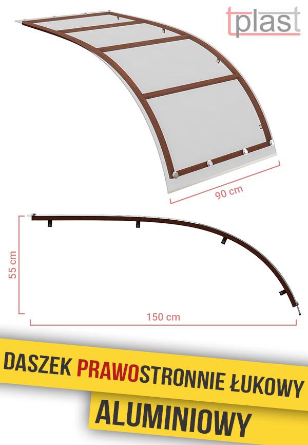 daszek-prawostronnie-łukowy-150x90cm-DPLA150X90K-TECH
