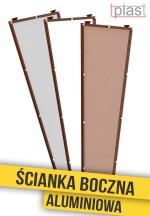 Ścianka boczna do daszka 130x50x30cm SBA130X50X30K