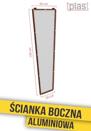 Ścianka boczna do daszka 130x50x30cm SBA130X50X30K TECH