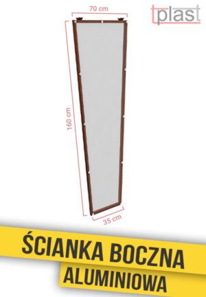 Ścianka boczna do daszka 160x70x35cm SBA160X70X35K TECH