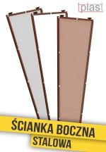 Ścianka boczna stalowa do daszka 150x50x30cm SBS150X50X30K