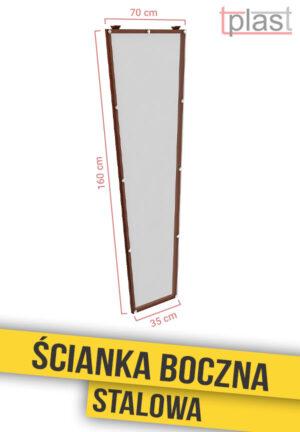 Ścianka boczna stalowa do daszka 160x70x35cm SBS160X70X35K TECH