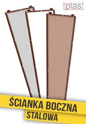 Ścianka boczna stalowa do daszka 180x53x30cm SBS180X53X30K