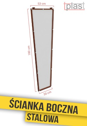 Ścianka boczna stalowa do daszka 180x53x30cm SBS180X53X30K TECH